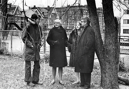 Jane Jacobs and colleagues discussing CPTED